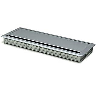 Alk 721.80pasacable mit Deckel-EINFACH, silber matt, 300x 120x 25mm