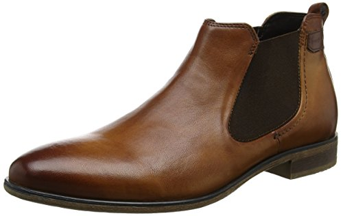 Bugatti 311143202500, Men's Chelsea Boots, Brown (Cognac), 10.5 UK (45 EU)