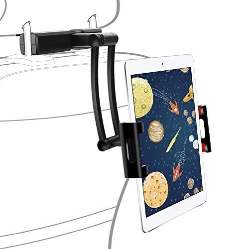 Winload Tablet Halterung Auto, Universal KFZ-Kopfstützen Tablet Halterung, 360° Grad Einstellbare Rotierende Autositz-Kopfstützenhalterung für iPad/Mini/Smartphone und die Meisten 5.3-10 Zoll Tablets