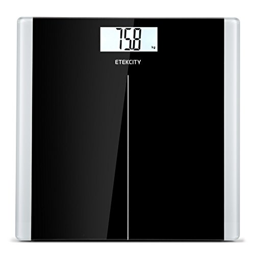 Etekcity-High-Precision-Digital-Body-Weight-Bathroom-Scales-Weighing-Scale-with-Step-On-Technology-28st180kg400lb-Backlight-Display-Slim-Design-Elegant-Black