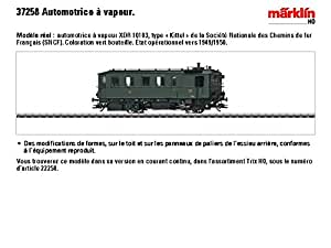 Märklin - 37258 - Modélisme Ferroviaire - Locomotive - Automotrice à Vapeur - Kittel - SNCF