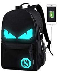 WYCY Anime Cartoon Luminous Backpack mochila de moda con puerto de carga USB y estuche antirrobo