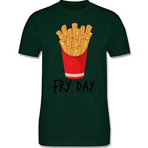 Shirtracer Statement Shirts - Fry Day - Pommes Frites - Herren T-Shirt Rundhals Dunkelgrün