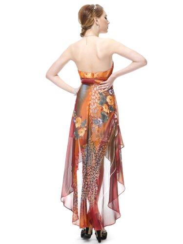 Ever Pretty Robe de cocktail asym¨¦trique au genou ¨¤ fleur de style Empire 06091 Marron