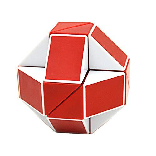 zzle Twist, 24 Keile Magische Schlange Spielzeug Geschenke, Weiß/Rot ()