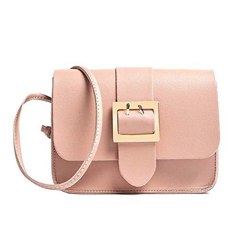 hsy 5 Farben Mode Umhängetaschen für Frauen Handtasche Tragetaschen für Frauen Elegante Umhängetasche aus Kunstleder (Color : Pink)