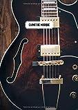 Carnet de Musique: avec partitions - Journal de tablatures et portées avec couverture guitare electrique.