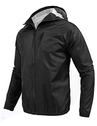 Coofandy Mens Raincoat Outdoor Waterproof Jacket Climbing/Hiking Coat