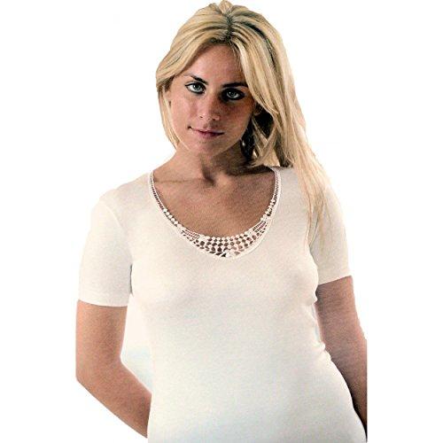 Maglia intima Donna in Lana e cotone Mezza Manica Tg 4/M-5/L-6/XL-7/XXL 897
