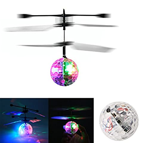 dairyshop Flash Ball Flying Infrarot Induktion Colorful Disco LED RC Hubschrauber Kinder Spielzeug