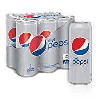 Diet Pepsi, Carbonated Soft Drink, Cans, 6 x 355 ml