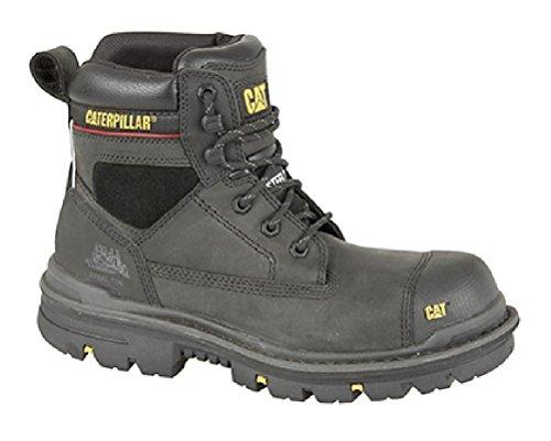 Caterpillar 'Gravier S3' 15,2cm Industriel Sécurité Semelle intercalaire Bottes - Noir - Black Oily Leather, 44 EU