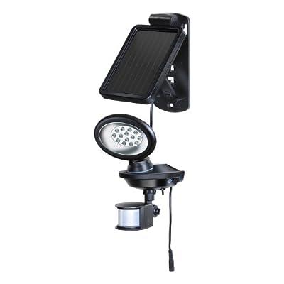 Brennenstuhl Solar LED-Außenleuchte SOL 14 IP 44 mit Bewegungsmelder, schwarz 1170830 von Hugo Brennenstuhl GmbH & Co. KG - Lampenhans.de