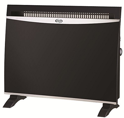 Argoclima Glam Black Termoconvector Eléctrico con Panel Vidrio 1500 W Cristal Negro