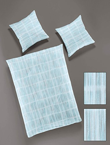 Blue Lagoon Bettwäsche (Bierbaum Satin Bügelfrei Design: 6987, Lagoon, Bettdecke 155/220 + Größe Kopfkissen 080/080 Bettwäsche, Baumwolle, 220 x 155 cm, 2-Einheiten)