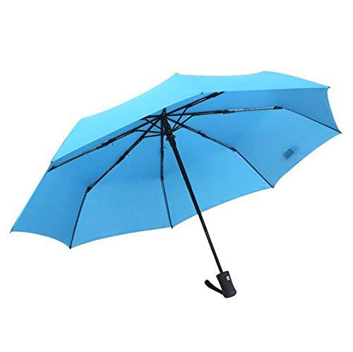 WENSISTAR Kompakt Taschenschirm ,Automatische Taschenschirmsonne, super winddichter Business-Regenschirm @ Sky Blue,Beschichtung Reise-Regenschirm -