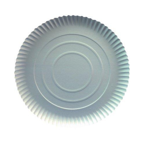 1 Pack de 50 assiettes en carton rondes 26 cm x 2 cm-blanc