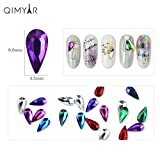 QIMEIYA 30 Pieces Nail Art Rhinestones Glass Charms Gems Stones Crafts Crystal Beads for Nails Decoration Makeup Clothes Shoes