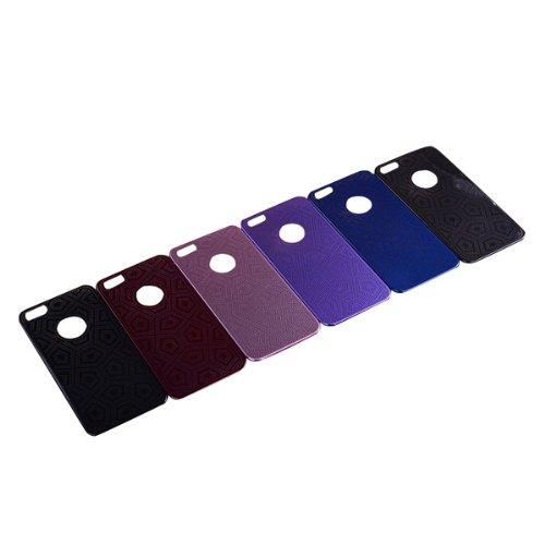 Pentagone Grain Motif Protecteur Metal Case pour iPhone 5 5S violet