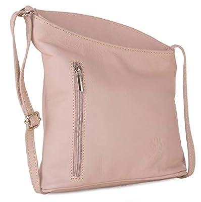Big Handbag Shop Womens Small Genuine Soft Venenzi Italian Leather Cross Body Bag