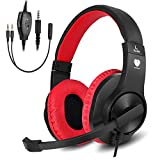 BUTFULAKE Gaming Headset, Audio Stereo Bass mit Mikrofon, Leichtgewicht Kopfhörer für PS4, Nintendo Switch, Xbox one, Laptops, PC, Smartphone