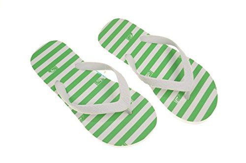"Roxy Jet Set INFRADITO da spiaggia scarpe.""impy scarpe, verde/bianco"