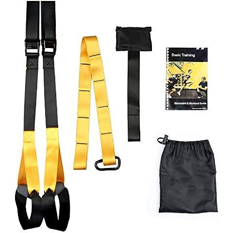 Fivanus Pro Suspension Trainer Sospensione Trainer Kit Cinghie Sospensione Trainer Fitness Crossfit