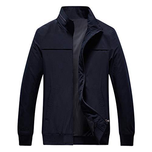 Setsail Herren Neuer Herrentel Herbst Lässige Mode Reine Farbe Patchwork Jacke Reißverschluss Outwear Coat Wesentlicher Art und WeiseHerrentel -