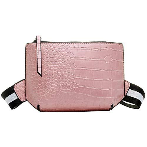 Lonshell Damen Trachten Ledertaschen Mode Brusttasche Bauchtasche Schultertasche mit Reißverschluss Schalter Sport Gürteltasche Hüfttasche Citytasche Dirndl Clutch