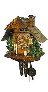 Pendule à coucou Maison, chasseur, oiseau