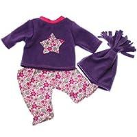 Puppenkleidung in Handarbeit gefertigt 43 cm passend für zb Baby Born Kleidung set Bekleidung49