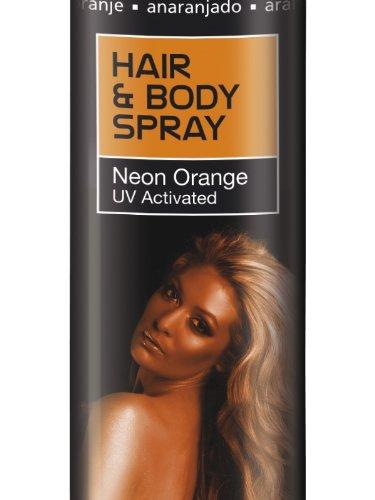 UV aktiviert Orange orangenes Haarspray Bodyspray Körperspray Körper ()