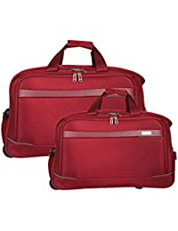 Fly Luxe Softsided Nylon Duffle Carry-On Trolley Travel Luggage Set Of 2