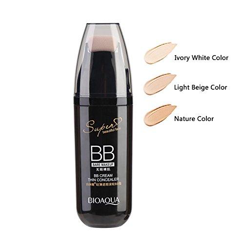 BB Creme, Anti-Aging Feuchtigkeitscreme Concealer mit Scrolling Roller für Gesicht Make-up(Nature Color)