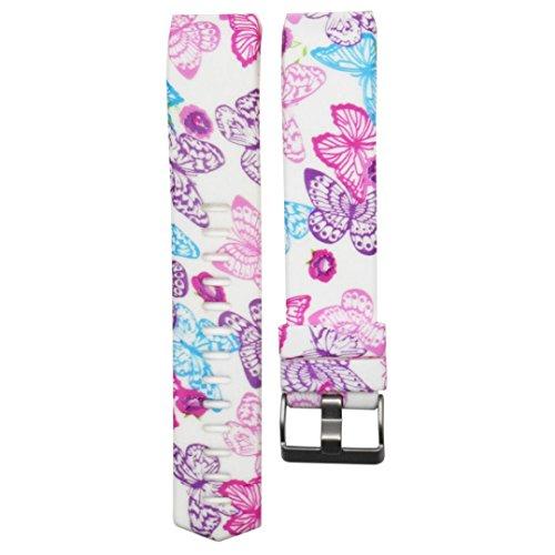 KanLin Armband, Bunte Sport Silikon Armband Strap Band für Fitbit Charge 2 (O)