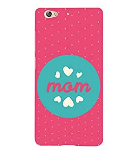 Fiobs Designer Back Case Cover for Gionee S6 (Pink Dot Pattern Mother Quote)