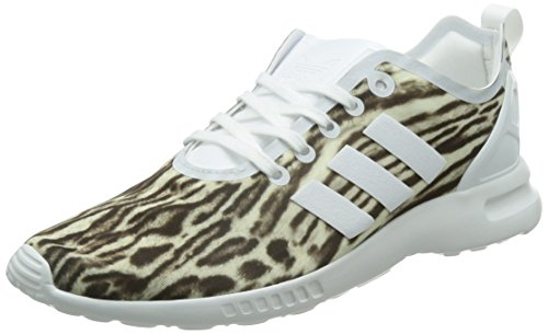 adidas Damen Zx Flux Adv Smooth Sneakers, Weiß (Core White/Core White/Core Black), 36