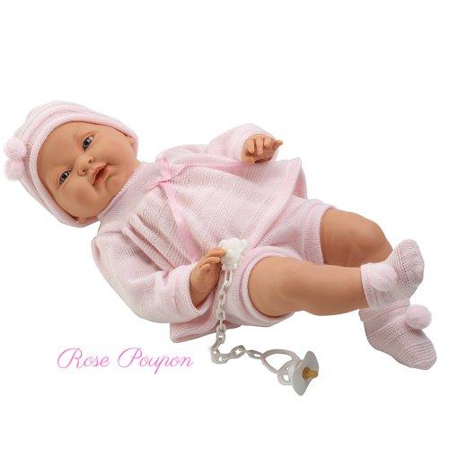 M. Llorens Juan Spielpuppe Babypuppe Puppe 42 cm Geschlecht: Mädchen mit Schnuller