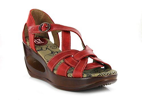 SANDALIA Fly London CAMEL P143627002 HAUK Rosso