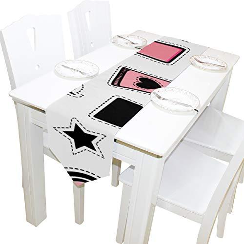 Yushg Mädchen Make up Schöne Kommode Schal Tuch Abdeckung Tischläufer Tischdecke Tischset Küche Esszimmer Wohnzimmer Hause Hochzeitsbankett Decor Indoor 13x90 Zoll