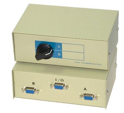 2 Port / Way VGA Monitor Switch Box