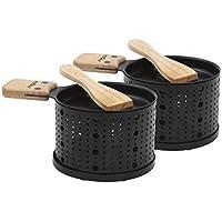 Cookut Lumi-raclette Ensemble de individuels à fromage pour 2