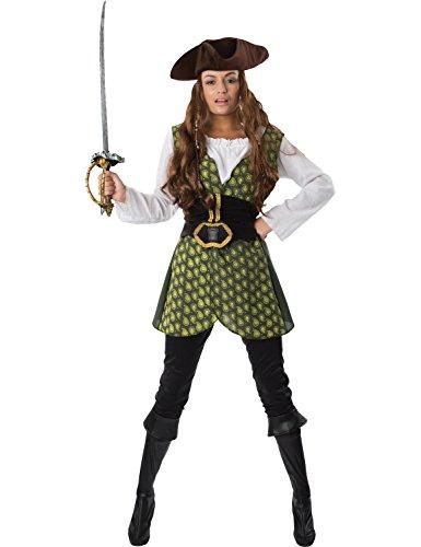 Weiblichen Piraten Meer Dame Damen Frauen Karneval Kostüm ()