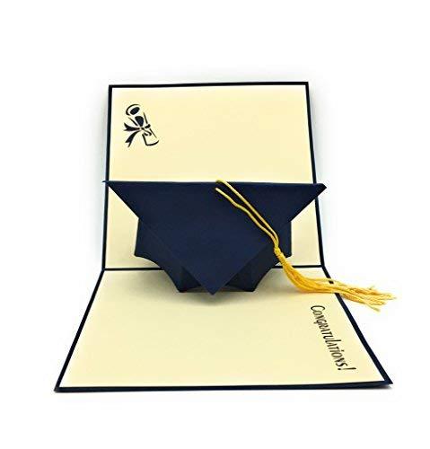 K & hecho mano gorro graduación–Tarjeta felicitación–Ideal