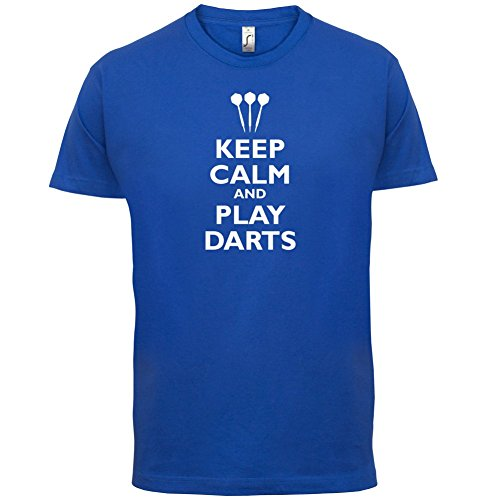 Keep Calm and Play Darts - Herren T-Shirt - 13 Farben Royalblau