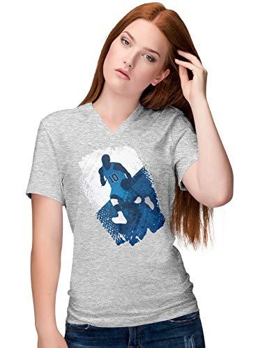 BLAK TEE Herren Grunge Basketball Player T-Shirt XL - Golden Ash Grey-t-shirt