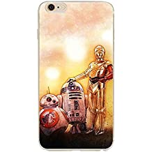 iPhone 5c Star Wars Caja del Silicona / Cubierta de Gel para Apple iPhone 5c / Protector de Pantalla y Paño / iCHOOSE / 3 Droids Art Print