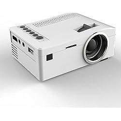 1080p HD, POTOBrand, LED hogar MulitMedia teatro cine USB TV SD HDMI Mini proyector VGA