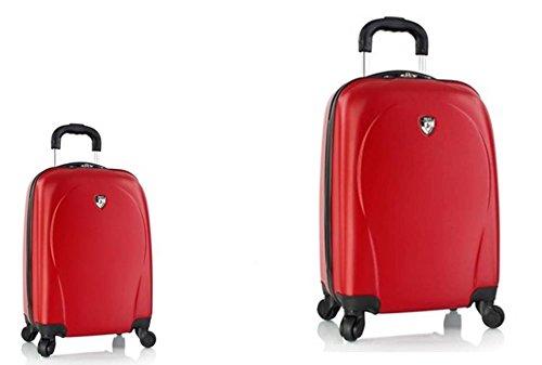 PREMIUM DESIGNER Hardside Luggage set 2 pcs. - Heys Core XCase Spinner Red Trolley with 4 Wheels Medium + Trolley with 4 Wheels Large 470576031&Core&148+149 (Hardside Samsonite Gepäck)