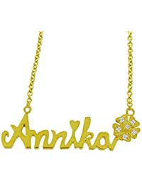 Aastha Jain Personalised Sterling Silver (18K Gold Plating) Necklace for women